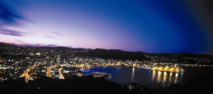 Wellington harbour at night - image supplied by Positively Wellington Tourism